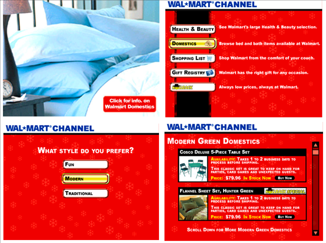 Walmart – interactive TV channel